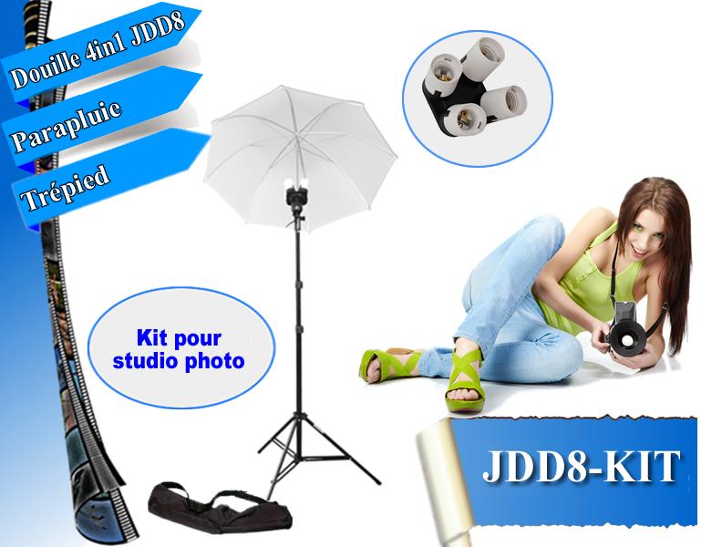 kit clairage dynasun jd8kit douille double parapluie tr pied pour flash lumiere ebay. Black Bedroom Furniture Sets. Home Design Ideas